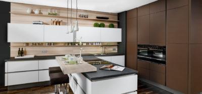 Küchen in Lederoptik